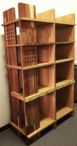 Librero dearmable de madera sólida y mdf
